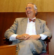 In this May 8, 2003, file photo, U.S. District Judge Charles Breyer discusses his San Francisco upbringing at the Federal Courthouse in San Francisco.