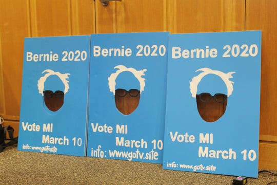 More than 100 people attended an organizing event for Sen. Bernie Sanders' presidential campaign in Ann Arbor on Tuesday, Feb. 18.
