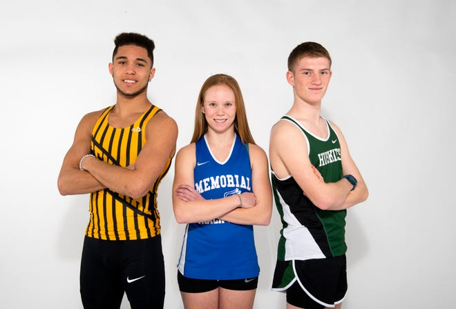 Central's Kyle Stewart (left), Memorial's Allison Morphew and North's Dean Schmidt are the SIAC track headliners.
