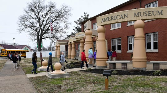 Dexter Elementary fifth graders arrive at the Evansville African American Museum on Lincoln Avenue for a tour Friday, February 15, 2019. A resolution pending before the Evansville City Council endorses which local nonprofits should receive city government funding in 2021, and it calls for several changes. The non-binding resolution written by Jonathan Weaver, D-At-Large, and Missy Mosby, D-Second Ward, states city support for nonprofits next year should include only 11 specific organizations, of which the Evansville African American Museum is one.