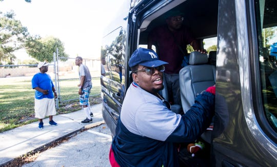A LARC client gets picked up by the Community Resource Network of Florida on Thursday, Feb. 20, 2020. Dozens of clients were affected by the suspension of service by Good Wheels.