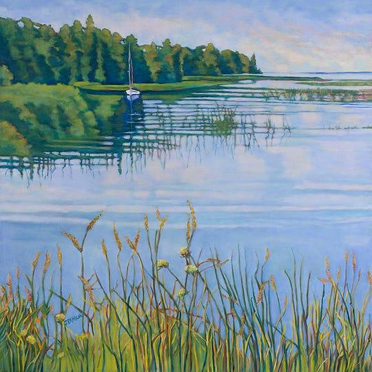 """""""Ready to Sail,"""" oil on linen, by Judi Ekholm, a Fish Creek artist."""