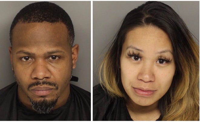 Latravic Bigby, 35, and 28-year-old Vanhorren Hor face charges of trafficking between 200 and 400 grams of meth, and trafficking more than 28 grams of heroin in relation to the bust.