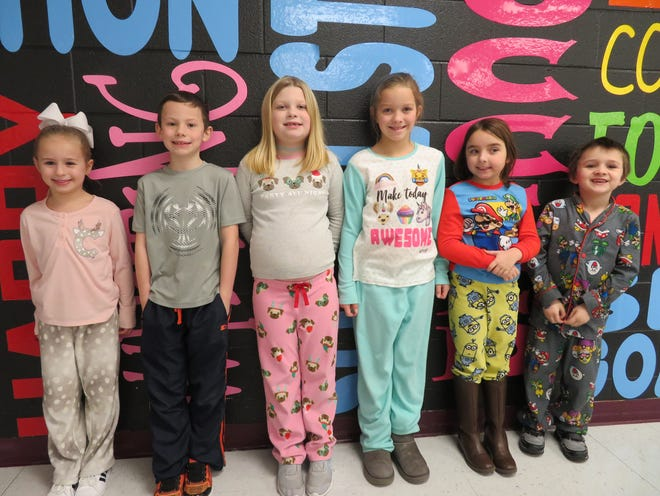 The Niagara Primary Leaders of the Month for January 2020 are, from left, Claire Thomas, Paxton Utley, Kendall Klein, Reese Garrett, Riley Manion and Cameron McLaughlin.