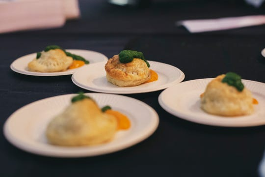A cheesy dish prepared for Downtown Iowa City's Top Chef 2019 event.