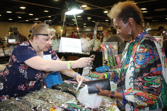Vendors at The Mississippi Gem and Mineral Society's annual show in 2019 at the Mississippi Trade Mart.