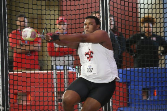 Dominique Williams leads the Ragin' Cajuns into the Sun Belt Indoor Championships in Birmingham, Ala. on Monday and Tuesday.