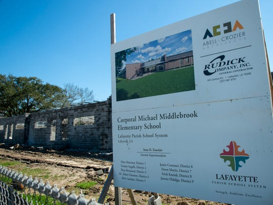 A new permanent classroom addition to Cpl. Michael Middlebrook Elementary is taking shape Friday, Feb. 21, 2020.