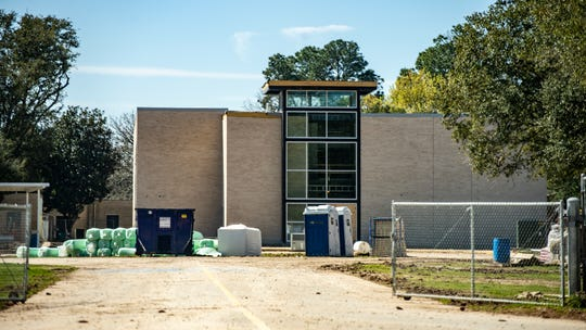 A new permanent classroom addition at Woodvale Elementary is taking shape Friday, Feb. 21, 2020. It is expected to be completed by the end of this school year.