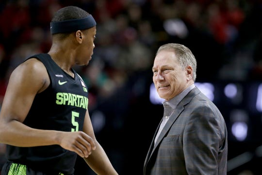 Michigan State coach Tom Izzo had to take a different approach this season with senior point guard Cassius Winston after Winston lost his brother, Zach.