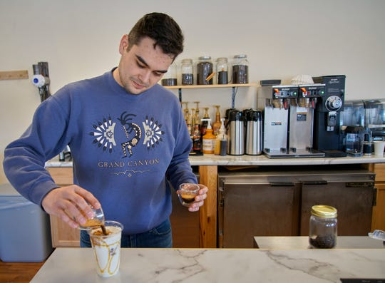 Keaton Sanjur, a 2017 Ontario High School graduate, also owns a coffee shop inside OhioHealth Mansfield Hospital.