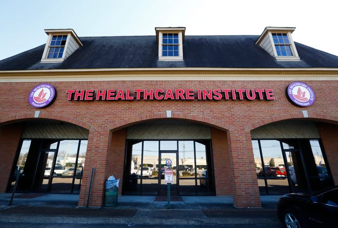 The Healthcare Institute on 7251 Winchester Road in Memphis where the FBI executed search warrants Friday that also included the home of businesses owner, state Sen. Katrina Robinson, a spokesman confirmed.