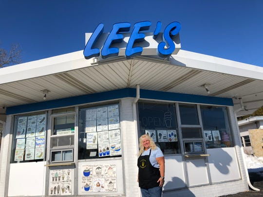 Danette Bugs-Janik, owner of Lee's Dairy Treat, stands in front of her shop at 14040 W. Greenfield Ave., Brookfield. Lee's is celebrating their 50th anniversary this year.