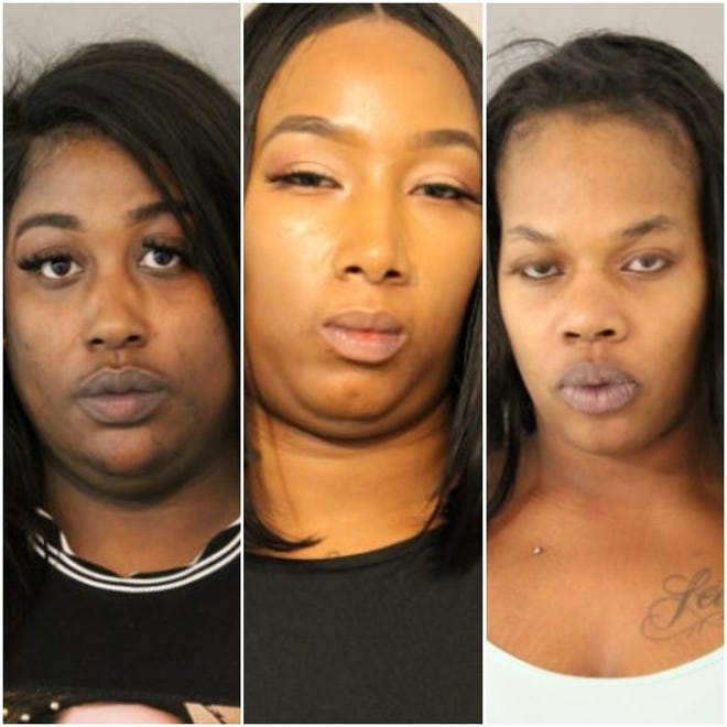 Milwaukee-area women (from left) Jasmine Ross, Felicia Anderson and Anesha Robinson are accused of beating up and robbing a Chicago man.
