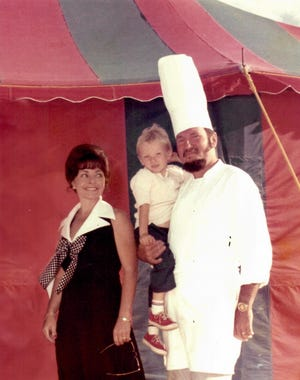 Kurt Weber poses with his family at the Nantucket restaurant's annual Clam Bake and Lobster Boil.