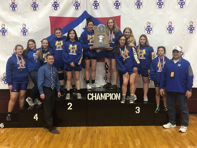 The Mountain Home Lady Bomber wrestling team brought home the state runner-up trophy at the state wrestling tournament for all classifications on Thursday in Little Rock.