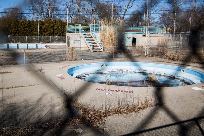 The former site of the Halteman Swim Club, which includes a swimming pool built in the 1960s, is now owned by the city of Muncie.