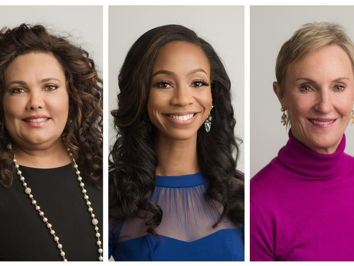 Among this year's nominees for Rutherford Cable's 2020 ATHENA Leadership Awards are, from left, Renee Toomer, LaShan Dixon and Dr. Elizabeth LaRoche.