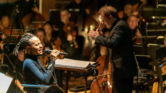 Ludovic Morlot conducts the Seattle Symphony and vocalist Jocelyn B. Smith in a 2019 concert
