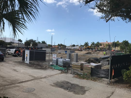 The Lutgert Companies is constructing an office building where the Witch's Brew had been located at 4850 U.S. 41, Naples. The image was shot Feb. 19, 2020.