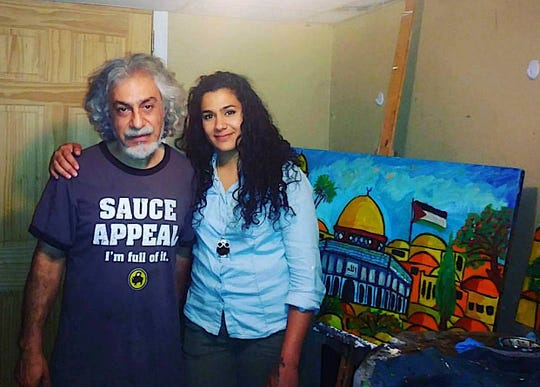 Amar Elatab with her father, Said Elatab, in a photo taken about a year ago.
