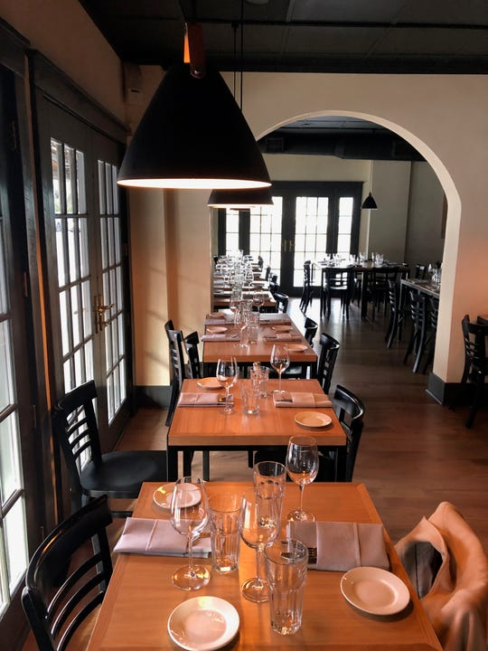 The  dining room of La Rocca in Montclair