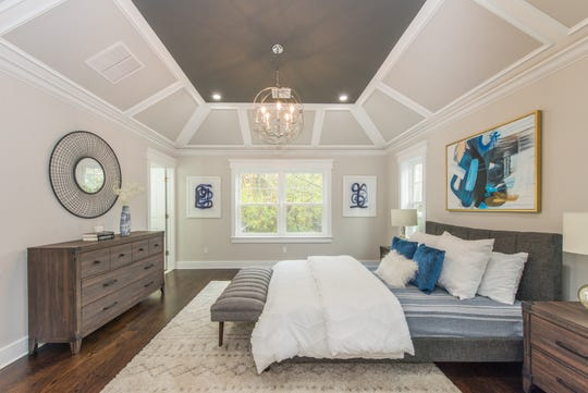 Staging this empty home for sale, Bungalow Home Staging brought in all the design elements needed to create an attractive master bedroom for potential buyers to envision.