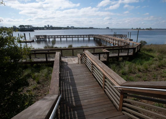 The Innerarity Point Park will open in early March. Escambia County is also planning to make improvements to the Galvez Landing boat ramp, but the project is still in the design and approval phases.