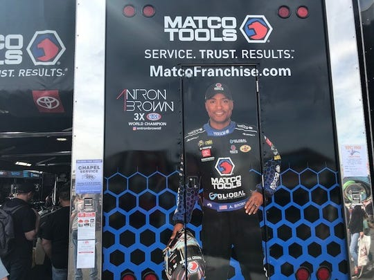 Antron Brown is a three-time NHRA Top Fuel champion