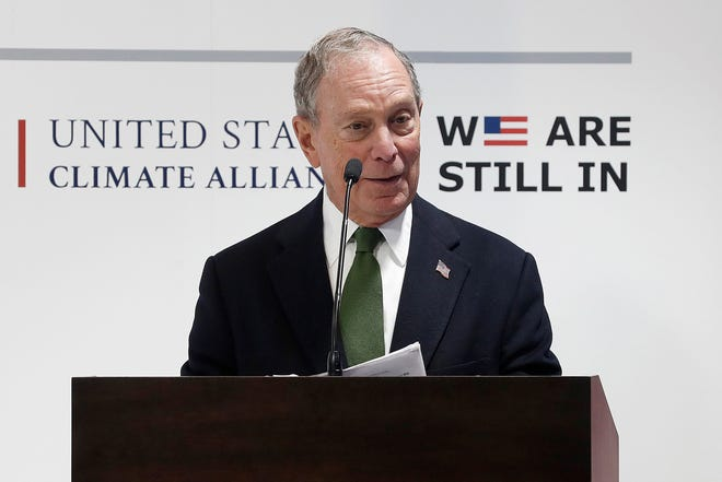 El presidente de Bloomberg Global Business Forum, Michael Bloomberg, durante su asistencia a la Cumbre del Clima COP25, en Madrid.