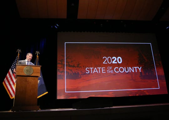 Dutchess County Executive Marc Molinaro delivers the 2020 State of the County address at the Culinary Institute of America in Hyde Park on February 20, 2020.
