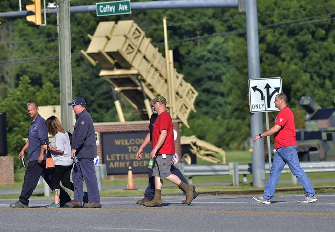 More than 300 people will be laid off or reassigned at Letterkenny Army Depot in Chambersburg, officials said Thursday.