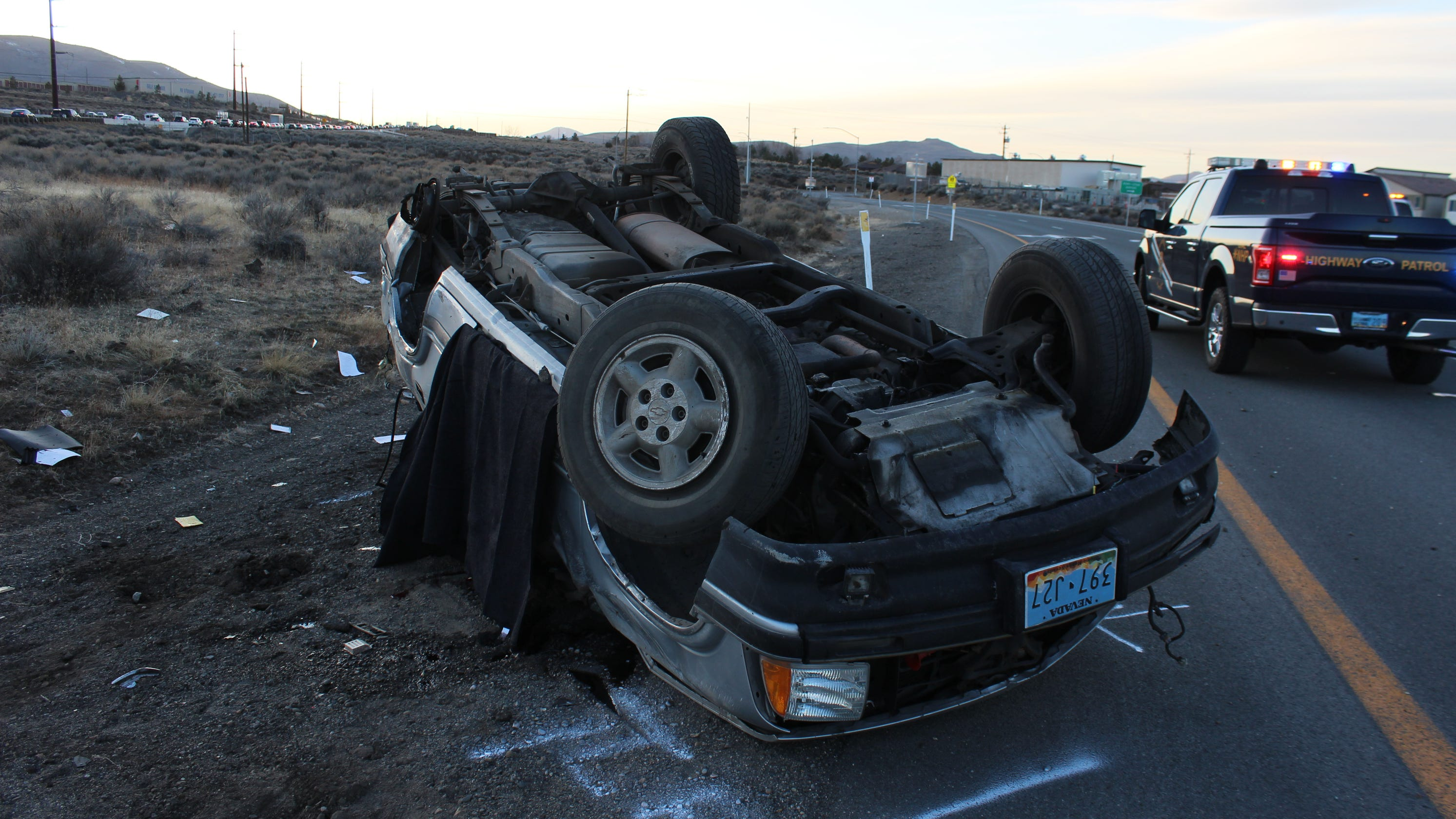 NHP identifies Reno driver killed in a rollover crash on US 395