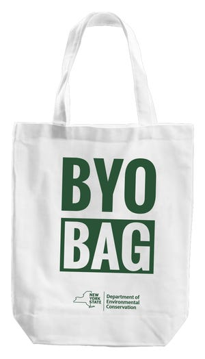 The New York Department of Environmental Conservation has been handing out these reusable bags at food banks across the state.