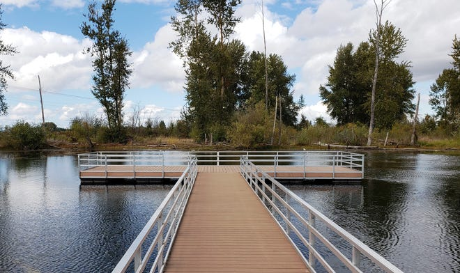 Floating docks at St. Louis Ponds are ADA accessible and are a great fishing destination for the whole family.