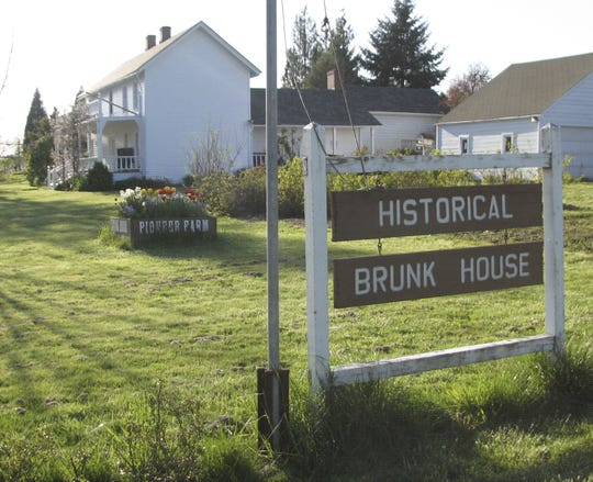 The Brunk House, built in 1861 in what was the town of Eola, is the site an an annual apple festival.