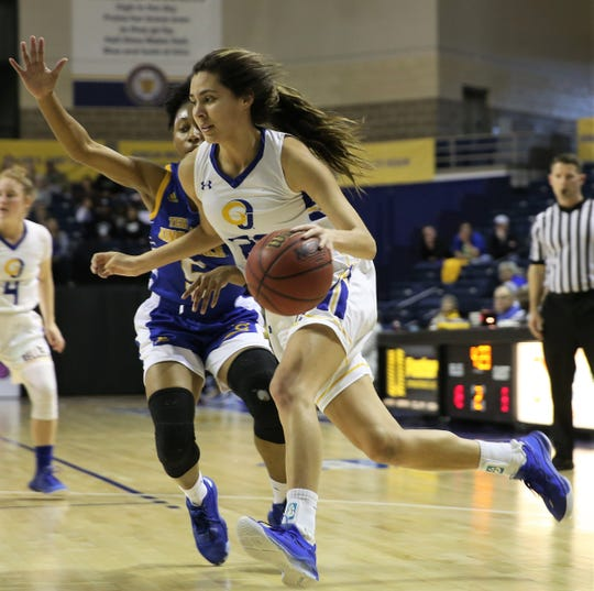Angelo State University's Samantha Rocha helped lead the Rambelles to a 58-39 win against Texas A&M-Kingsville in a Lone Star Conference game at the Junell Center on Thursday, Feb. 20, 2020. Rocha is a former Wall High School standout and a co-MVP on the 2019 All-West Texas Team.