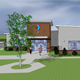 An artist's rendering of the new YMCA to be build in Cape Charles.