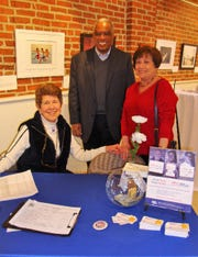 Sue Claire Harper, co-president of the League of Women Voters of Delaware with Greg Miller, guest, and Connie Jones, vice-president of the League of Women Voters of Sussex County at a recent get out the vote event.