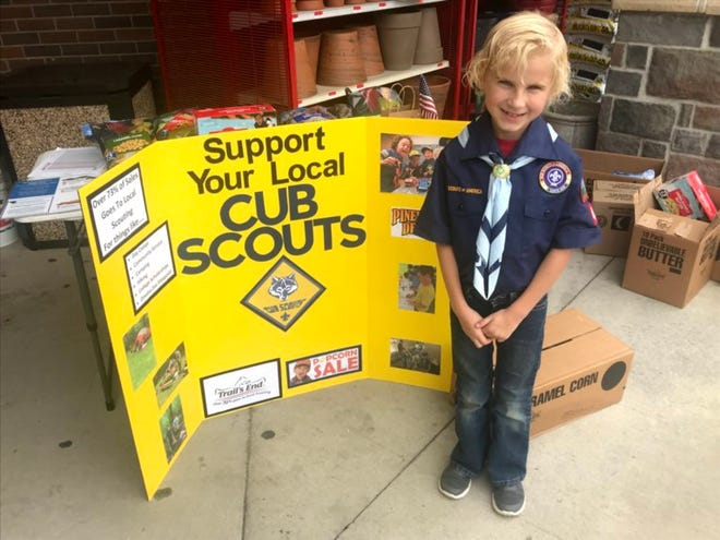 Emma Klinski, shown in 2018, joined Cub Scouts when the organization started to allow girls.