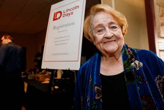 Marilyn Huffman volunteers at Lincoln Days at the University Plaza Hotel on Feb. 21.