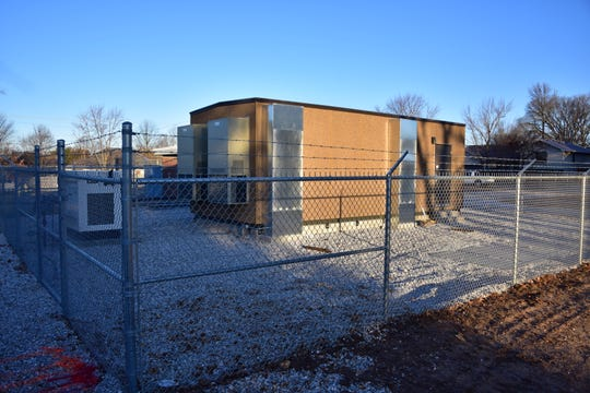 """This photo from early 2020 shows a large fiber-optic hut owned by City Utilities. A CU official said that by February 2023, every home in Springfield should have the option to get access to """"true"""" 1-gigabit Internet over this network."""