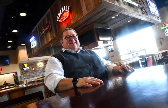 Food and beverage manager Tim Cullers talks about features of Mavericks Steak & Cocktails Thursday, Feb. 20, 2020, in Waite Park.