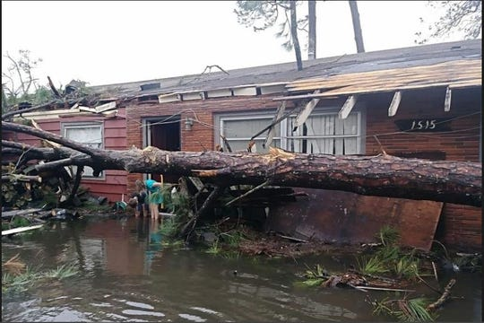 """Resident Melissa Correia said her home was deemed a """"total loss"""" after it was flooded from the hurricane."""