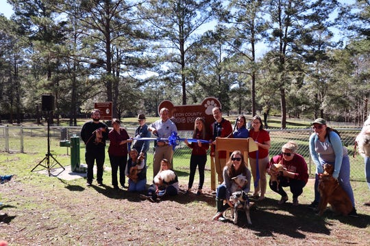 A ribbon cutting was held on Feb. 14 for the new Leon County dog park at Lee Vause Park on Old Bainbridge Road.