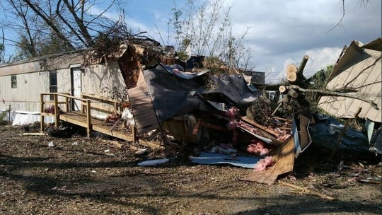 """Donn Shepard said after coming home to find his home destroyed in Washington County after Hurricane Michael, """"This is what I came home to... a tree fell on and destroyed my mobile home and I still don't have a place to live but I am staying with my brother until I can find something here to rent but that even seems hopeless. Its So depressing."""""""
