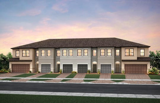 A proposed rendering of town homes for a development by PulteGroup off of East Ocean Boulevard in Stuart.