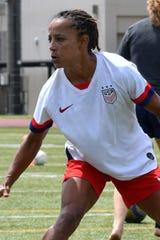 Pine School boys soccer coach Staci Wilson, shown training with the U.S. Women's National Team.