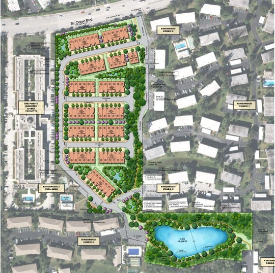 A rendering of the proposed development by PulteGroup on Southeast Ocean Boulevard.