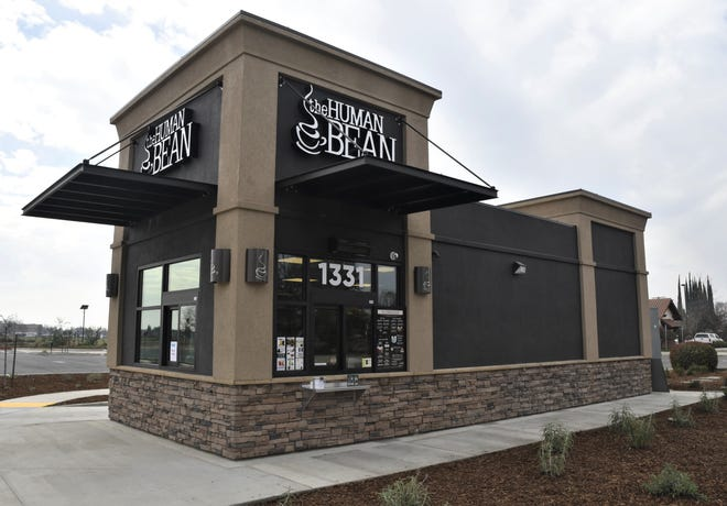 The Human Bean coffee shop opened in Visalia on Saturday, Feb. 22, 2019.